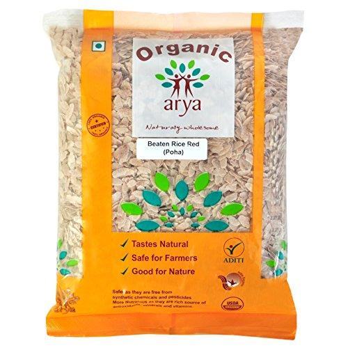 Arya Farm 100% Certified Organic Red Poha (1kg)
