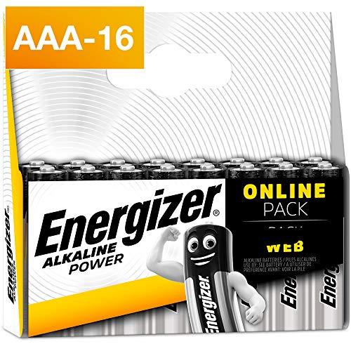Energizer Pack de 16 Piles AAA Energizer Alkaline Pow