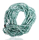 #9: 1 Strand of Aquamarine Color Quartz Faceted Rondelle Loose Gemstone Beads, 2x4 mm 15 inch length, aquamarine blue color, for jewelry making, wholesale price, exclusively by Ratnagarbha.