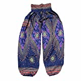 YWLINK Damen Kleidung,MäNner Frauen Thai Harem Hosen Boho Festival Hippie Kittel Mandala Druck Hohe Taille Yoga Hosen