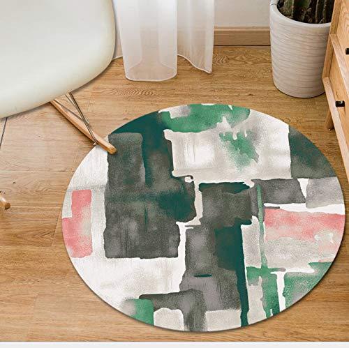 ZXHJK Moderner Dekorativer Teppich Teppichkunst Teppich rutschfeste Tragbare Maschine Waschbar Für Schlafzimmer 100X100Cm
