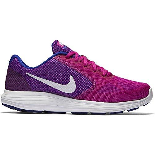 Nike Wmns Revolution 3, Chaussures de Running Femme Morado (Hypr Violet / White-Cncrd-Gmm Bl)