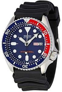Seiko SKX009K1 - Reloj de automático para hombre, con correa de goma, color negro de Seiko