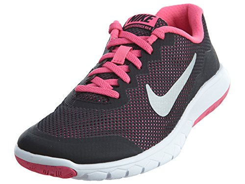 Nike - Flex Experience 4 (Gs) - , homme, multicolore (black/metallic silver-pink pow), taille 36 Black/PK/WH