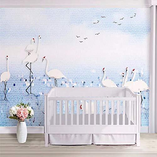 Vlies Tapete Mosaik Blaues Meer Blauer Himmel KranTapeten Wandbilder Wohnzimmer ()