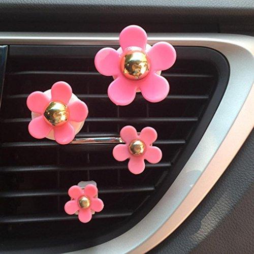 TAOtTAO, diffusore di profumo per auto a forma di fiore con clip per agganciarlo alle presa d'aria. ros