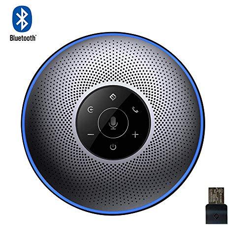 Bluetooth Freisprecheinrichtung - Konferenzlautsprecher eMeet M2 USB Mobile Konferenzlösung 8M Weitfeld Konferenzmikrofon Skype, VoIP-Kommunikation telefonspinne Konferenz Call, PC Mac Laptop (Grau) -