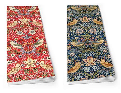 William Morris Einkaufslisten, magnetisch, Erdbeer-Dieb, Rot/Grün, 2 Stück (Erdbeer-kühlschrank-magnete)