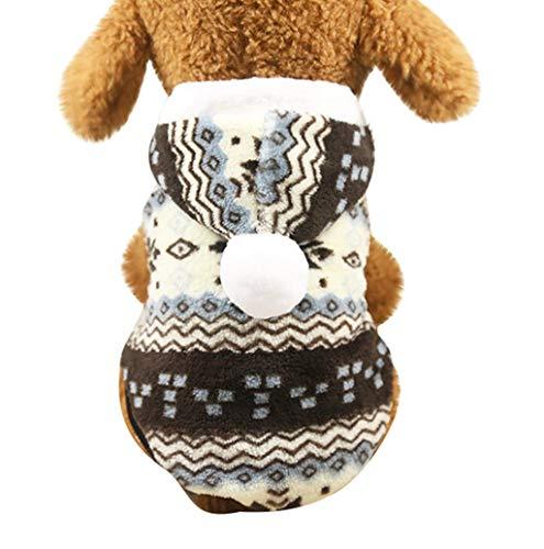Hundepullover Hundejacke Hundemantel Winter für Kleine Hunde Haustier Hundewelpen Schneeflocke dicken Mantel Jacke Kleidung Weihnachten mit Kapuze Wintermantel/Winterjacke Weihnachts kostüm TWBB