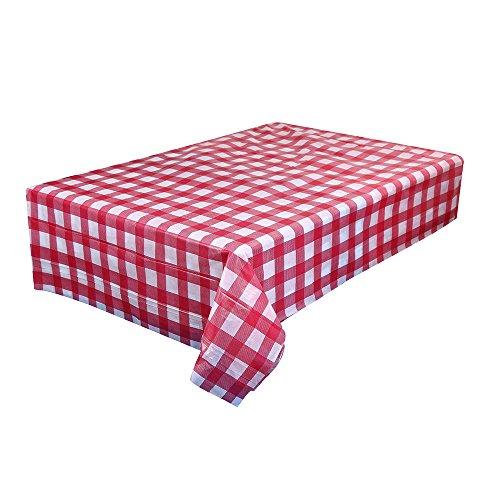 Ansenesna Tischdecke Quadratisch Kunststoff Wasserabweisend Decke Dekoration Für Party Hochzeit Festlich 170x170cm (D)