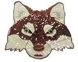Pailletten Strass Glitzer Aufnäher Fuchs Patches ge-stickt be-stickt groß Fuchs für Jacken Aufbügler zum aufbügeln