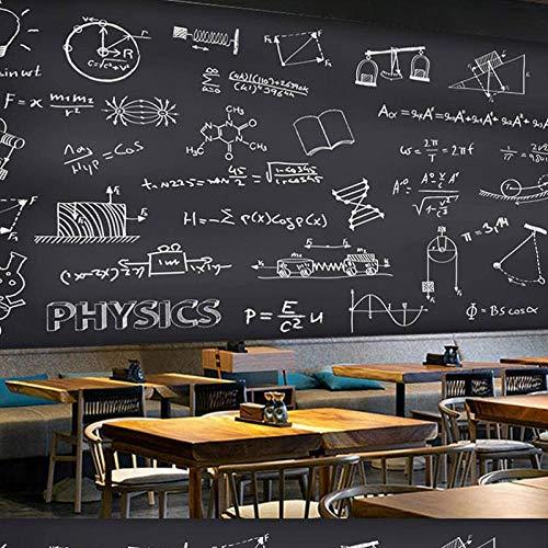 Benutzerdefinierte Tapete 3D Handgezeichnete Tafel Kreide Wort Bar Café Delikatesse Graffiti Wandtapete 350x256cm (Für Halloween Wort Ein Suche)