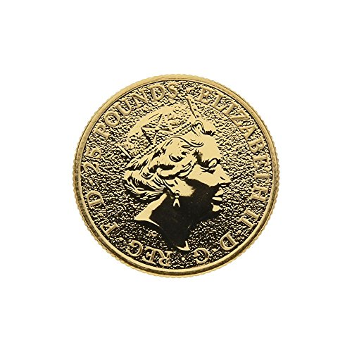 """1/4 oz England 2016 The Queens Beasts """"Red Dragon"""" 25 GBP 999,9 Goldmünze"""