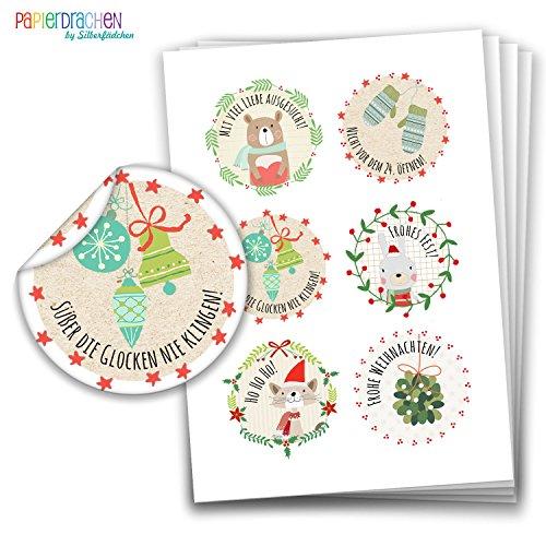 Papierdrachen Pegatinas Navidad Envolver Regalos