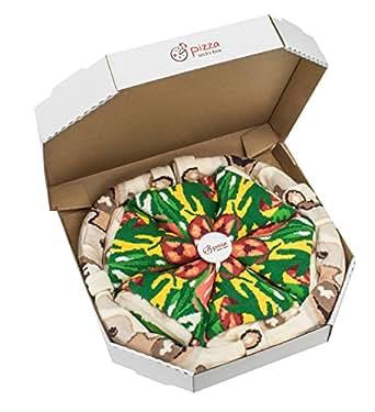 Pizza Socks Box - Pizza Italienne - 4 paires de Chaussettes FANTAISIE Uniques et Originales - CADEAU Drôle en COTON! |Tailles UE: 36-40|fabriqué dans l'UE