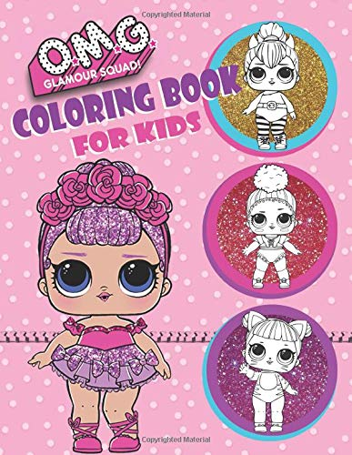 O.M.G. Glamour Squad! Coloring Book For Kids: 150 High Quality Images por Books Plus