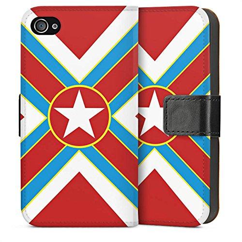 Apple iPhone 5s Housse Étui Protection Coque Étoile Univers Croix Sideflip Sac