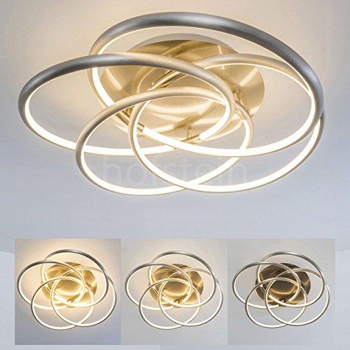 Plafoniera led dimmerabile manning - lampada da soffitto stile moderno elegante - plafoniera led con opzione dimmer per illuminazione personalizzabile- design moderno ideale per salotto zona living camera da letto -