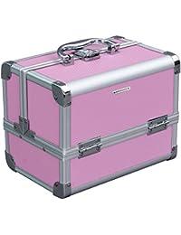 Songmics Boîte à bijoux Mallette coffret à maquillage bijoux et cosmétique beauty Case de deux couches avec poignée JBC316P