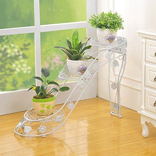 RXL-Blumenständer Iron Flower Rack Mehrstöckige Blumenbeet Rahmen Innen-und Außenbereich Wohnzimmer Balkon High Heels Kreative Blume Regal Green Radix Orchidee (Farbe : C) (High Heel Bambus Heels)