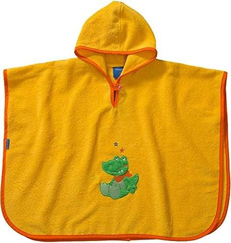 Morgenstern, hochwertiger Frottee - Bade - Poncho aus 100 % Baumwolle, Farbe gelb, Motiv Krokodil, Größe one size (ca. 1 bis 3 Jahre)