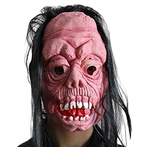 Krueger Freddy Kostüm Streich - Halloween maskeGruselige Latex Maske Mit Haar Halloween Horror Maske Für Erwachsene Und Jugendliche Cosplay Party Decor Streich Requisiten Mascara Halloween Maske @ D@EIN
