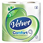 Velvet Comfort Soft Pure 4 White Toil...