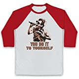 Photo de Inspired Apparel Inspire par Radiohead Thom Yorke Just You Do It to Yourself Officieux 3/4 Manches Retro T-Shirt de Base-Ball par Inspired Apparel