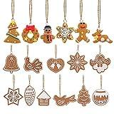 Yalulu 17 Teiliges Set Niedlich Hänger Weihnachten Deko, Keks Kranz REH Weihnachtsmann Glocke Tanne Weihnachtsbaum Deko Weihnachten