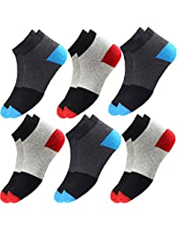 HICODE Men's and Women's Premium Ankle Length Casual Socks (Multicolor, Free Size) -6 Pair