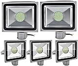 ALPHA DIMA 5X 50W LED SMD Kaltweiß Flutlicht Strahler mit PIR Bewegungsmelder Fluter 220V Außenleuchte Wandstrahler Außenstrahler IP65 6000K-6500K