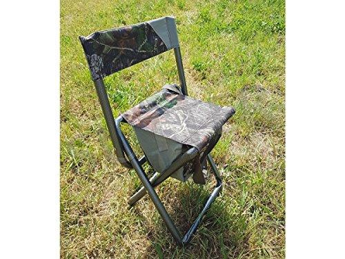SUTTER® Chaise de Chasse et d'affût, Pliable | avec Sac à Dos de 5 litres |Chasse aux Pigeons | Chaise Cacher d'affût