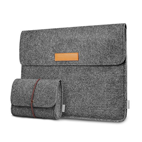 Inateck Borsa custodia per Surface Pro 2018(Surface Pro 6)/Surface Pro 3/4/5 Sleeve, 13'' MacBook Pro 2016-2018 e MacBook Air 2018, compatibile con iPad Pro 12,9'', grigio scuro
