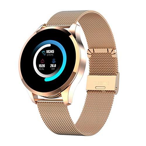 Rosennie Smartwatch mit Herzfrequenzmonitor Herren Damen Armbanduhr Blutdruck Smart Watch Wasserdicht Sportuhr Fitnessuhr Blutdruck Frauen Fitness Tracker Stoppuhr mit Schrittzähler