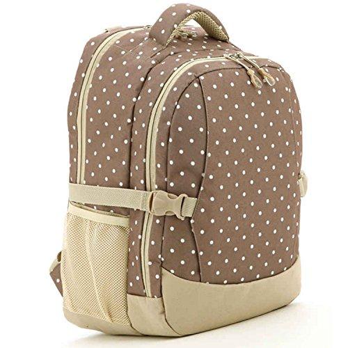 Preisvergleich Produktbild Multi-Funktions-große Kapazität Baby Kind Windel Wickeltisch Bag Mumie Mutterschaft Tasche Rucksack Handtasche Dot Khaki