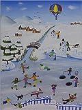Acrylglasbild 120 x 160 cm: Winter von Irene Brandt - Wandbild, Acryl Glasbild, Druck auf Acryl Glas Bild