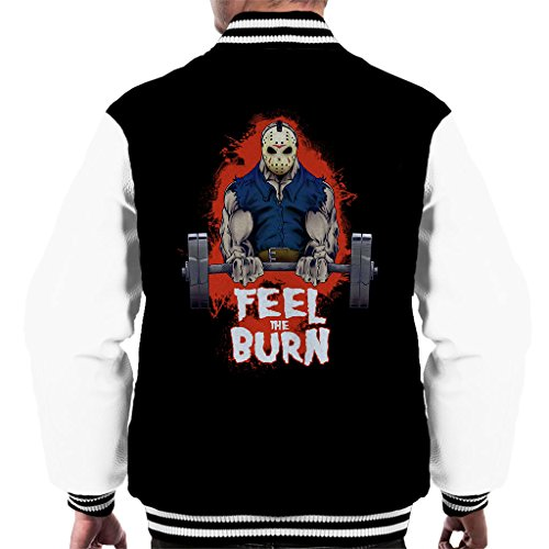 n Voorhees Pumping Iron Gym Men's Varsity Jacket (Jason Voorhees Geburtstag)