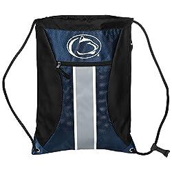 Ncaa Penn State Nittany Lionsbig Stripe Zipper Drawstring Backpack, Penn State Nittany Lions, One Size