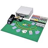 vidaXL Jeu de Poker Carte Blackjack Mixte avec 600 Jetons Laser Aluminium