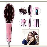 Creatif Ventures Fast Hot Hair Straightener Comb Brush LCD Screen Flat Iron Styling (HQT 906),Pink
