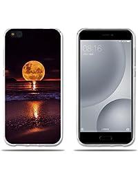 FUBAODA, Funda Xiaomi Mi 5c Carcasas Protección Gona, Protector de Silicona TPU Transparente y