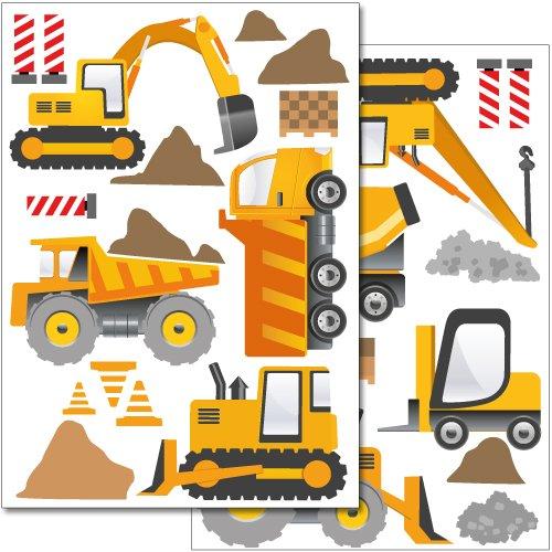 set-de-stickers-muraux-wandkings-engins-de-construction-plus-de-30-autocollants-sur-2-feuilles-a4