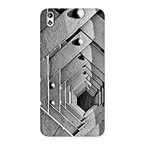Special Block Cage Back Case Cover for HTC Desire 816s