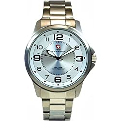 Swiss Mountaineer 100M Water Resistant White Dial Men's Watch SMW001