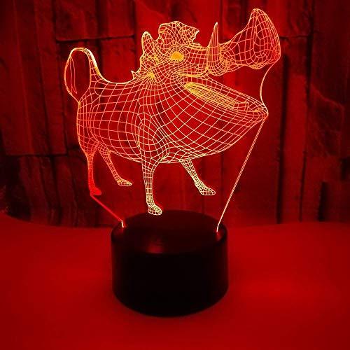 XXIONG Jet Flugzeug 3D LED Lampe 7 Farbwechsel 3D Nachtlicht Baby Schlafzimmer Tischlampe Touch USB Schreibtischlampe Kinder Urlaub Geschenk Home Deco - Deckenfluter Ist Muster