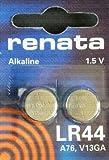 Schneiden, Edge Renata LR44 Alkaline-Batterien (76A, AG13, 157, V13GA, RW82, für Taschenrechner, Uhr, Schlüsselfernbed