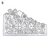 Spitze DIY Formen Metall Schablone Scrapbooking Album Papier Karte Ziselierstift–geshiglobal 8#