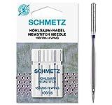 Schmetz con vainica/ala Agujas para máquina de coser, pack de dos, tamaño 100/16-comprar 2, Get 3rd paquete libre., 1 Single Packet of Two