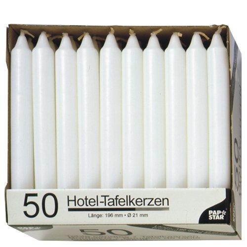 papstar-13800-candela-da-tavola-21-mm-confezione-da-50-colore-bianco