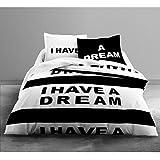 Today 013073 Housse de couette Enjoy Braza 220x240 cm avec 2 taies d'oreiller 63x63 cm Coton Noir/Blanc